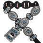 Turquoise Silver Navajo Concho Belt 27951