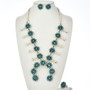 Turquoise Squash Blossom Necklace Set 29071