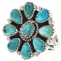 Turquoise Petit Point Ring 29071