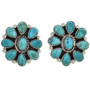 Turquoise Petit Point Earrings 29071