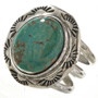 Turquoise Silver Ladies Ring 12463