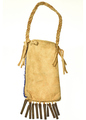 Native American Beaded Leather Bag 30363