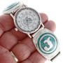 Turquoise Inlaid Watch 24263