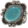 Turquoise Silver Ladies Ring 28681