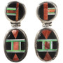 Inlaid Sterling Earrings 12703