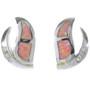 Inlaid Opal Sterling Post Earrings 17036