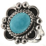 Turquoise Silver Ladies Ring 28604