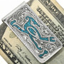 Hand Engraved Silver Money Clip 29256