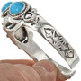Southwest Turquoise Silver Cuff 29418