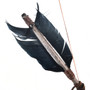 Real Feather and Bone Tipped Arrows 30224