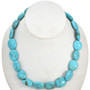 Kingman Blue Turquoise Magnesite Beads 16mm x 19mm 16 inch Strand 5112