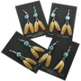 Feather Earrings with Turquoise 25389