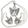 Silver Angel Pendant Set 29525