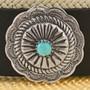 Navajo Silver Concho Hat Band 25896