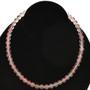 8mm Rose Quartz Glass Beads 16 inch Strand