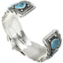 Turquoise Silver Ladies Watch Bracelet 30438