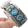 Navajo Turquoise Sterling Watch 30438