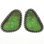Green Turquoise Post Earrings 28964