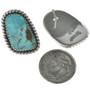 Navajo Turquoise Twist Wire Earrings 28527