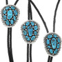 Turquoise Cluster Sterling Silver Bolos 29026