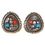 Cobblestone Navajo Silver Post Earrings 29687