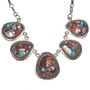 Wild Horse Turquoise Spiny Oyster Necklace 29687