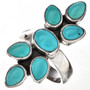 Turquoise Silver Ladies Ring 11515
