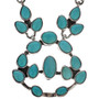 Genuine Turquoise Silver Necklace 11515