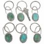 Green Turquoise Navajo Key Ring 27500