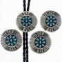 Native American Overlaid Silver Bolo Tie 24821