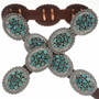 Turquoise Cluster Silver Concho Belt 21458