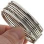 Sterling Navajo Cuff Bracelet 12730