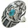 Thunderbird Turquoise Ladies Ring 29750