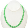 8mm Green Cracked Glass Beads 30 inch Strand