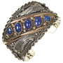 Lapis Silver Gold Mens Cuff 25154
