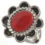 Oxblood Coral Ladies Ring 28660