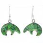 Green Turquoise Bear Pendant Earrings 29613