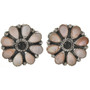 Pink Shell Onyx Post Earrings 28869