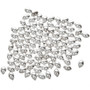 5x7mm Silver Plated Tube Beads PKG. of One Hundred 0015