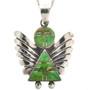 Green Gaspeite Silver Angel Pendant 29521
