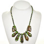 Turquoise Bronze Infused Necklace 28706