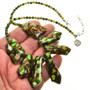 Green Turquoise Bronze Necklace 28706