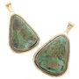 Green Turquoise Navajo Pendant 25787