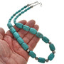 Turquoise Silver Navajo Bead Necklace 23350