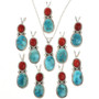 Sleeping Beauty Turquoise Pendants 29307