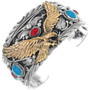 Gold Eagle Silver Mens Bracelet 24975
