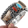 Native American Turquoise Gold Watch Bracelet 24470