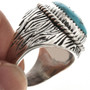 Grooved Silver Mens Ring 29390