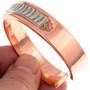 Nice Copper Silver Cuff Bracelet 23626