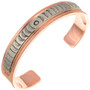 Hammered Silver Copper Bracelet 23626